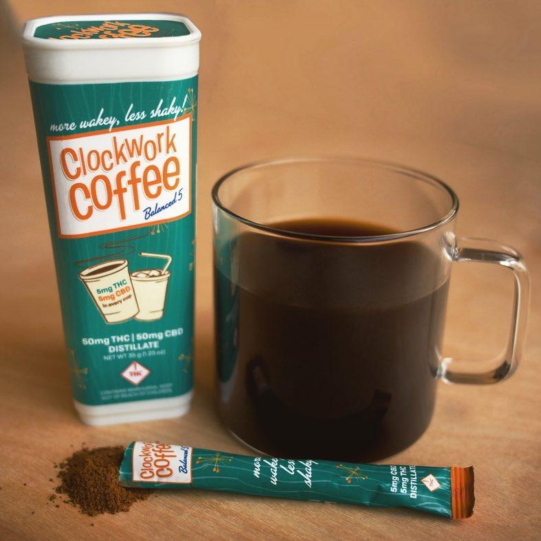 CBD and THC infused Clockwork Coffee