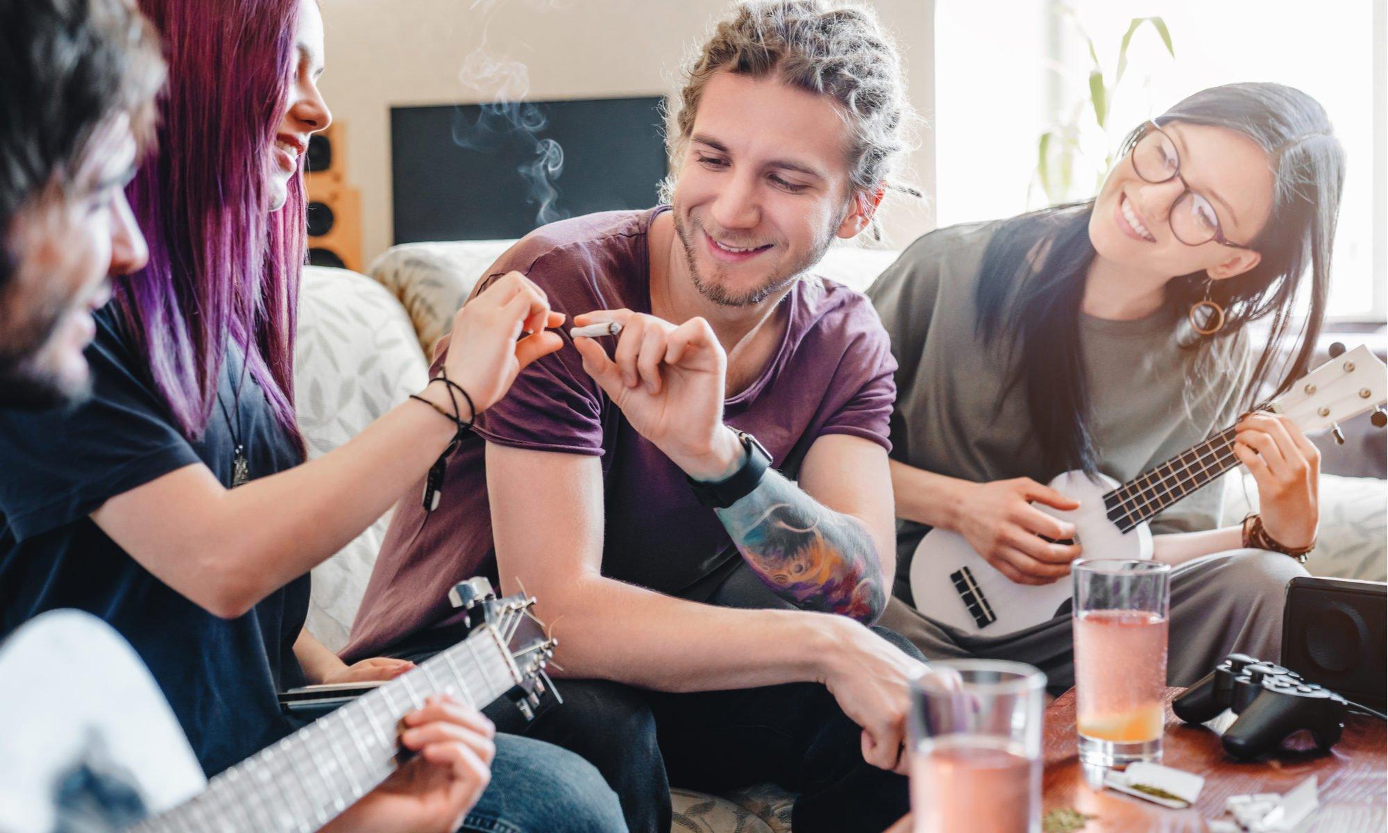 Smoking marijuana for the first time